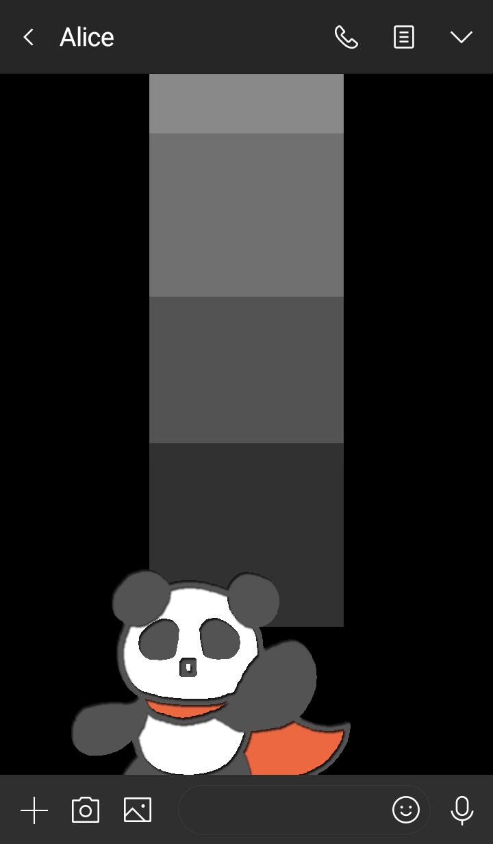 熊猫 英雄 黑