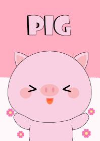 Big Head Cute Pig Theme