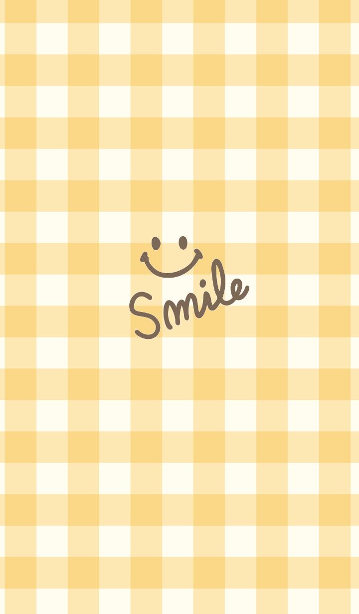 Orange gingham check - smile7-