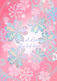 Five-leaf clover (pink)