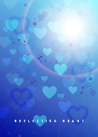 reflecting heart blue J