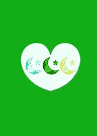 Jewelry Green Moon Heart 3