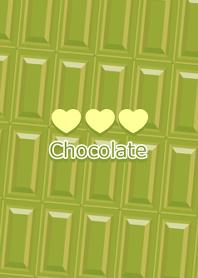Bar of chocolate -Matcha chocolate-