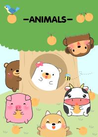Home Animals On Tree theme