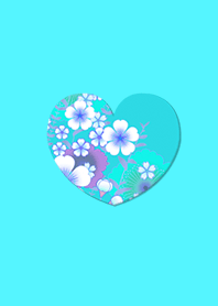 Simple Japanese Pattern Heart Light Blue