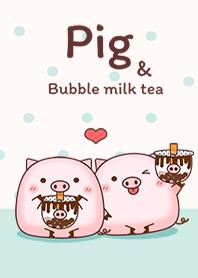 Pig & Bubble milk tea