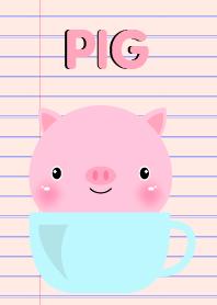 Simple Pink Pig Theme Vr.2