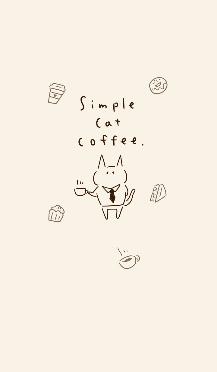 Simple cat coffee beige.