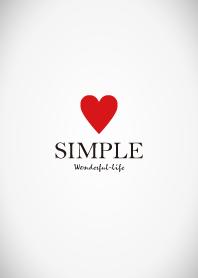 ธีมไลน์ SIMPLE HEART -RED- THEME.