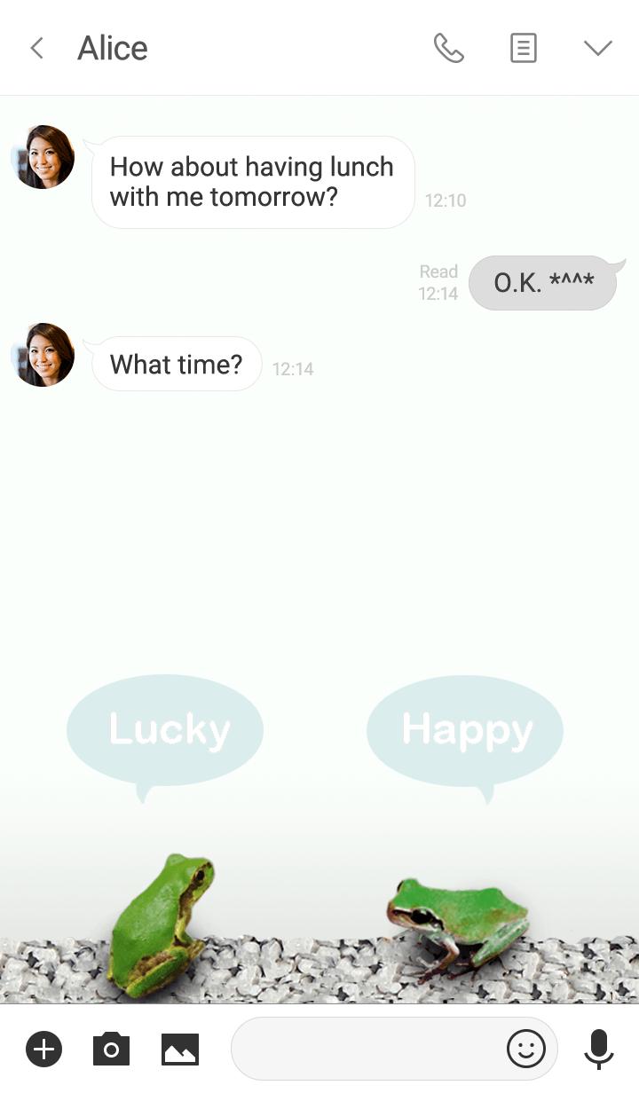 개구리 행복하고 운이 좋은