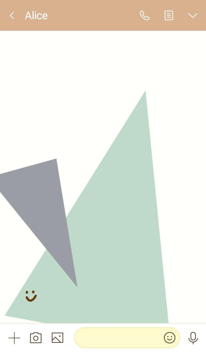 Fashionable three color triangle Green5J