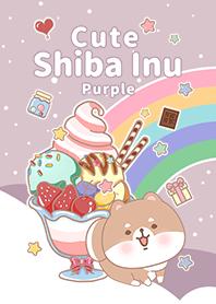 冰淇淋星空 可愛寶貝柴犬 紫色3