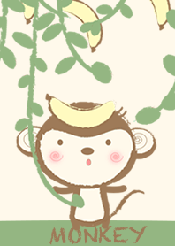 Monkey with delicious banana
