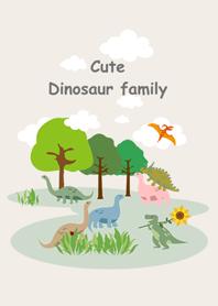 恐龍家族草原漫步