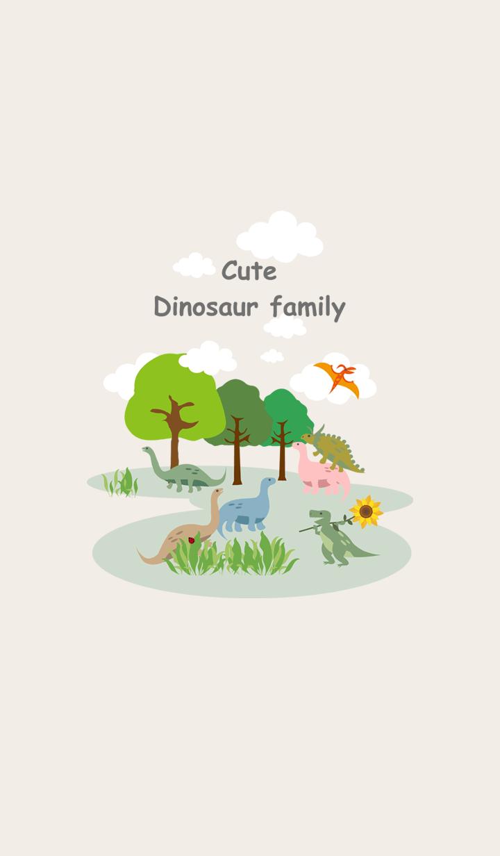 Dinosaur family prairie walk