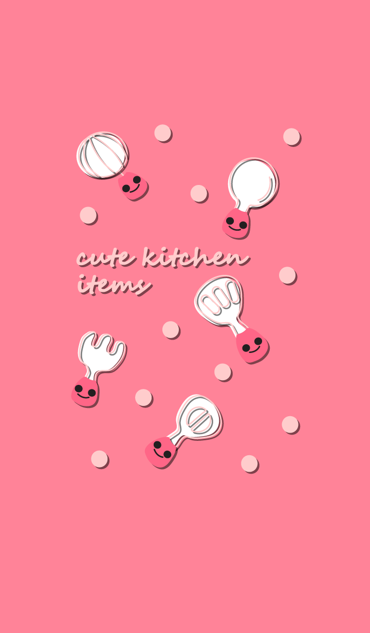 Cute kitchen items with little smile 6