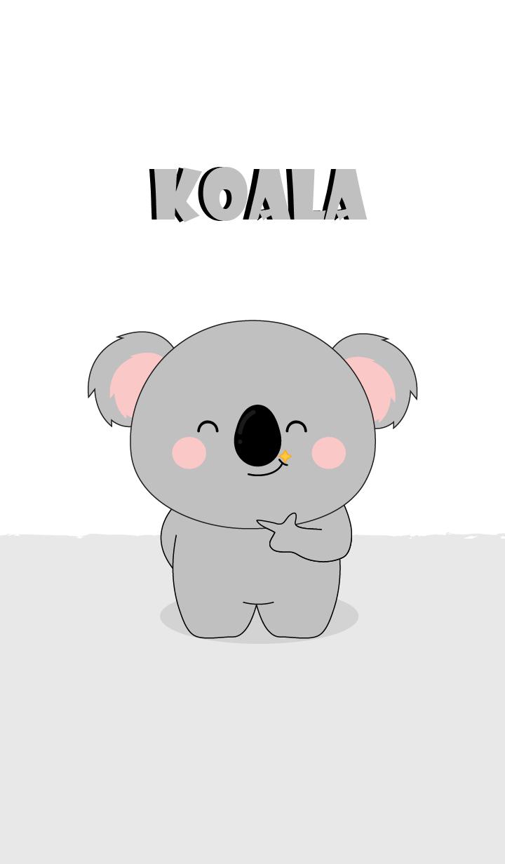 I Love Cute Cute Koala Theme