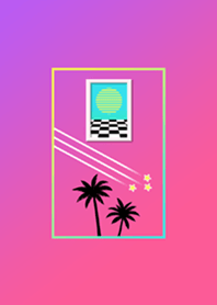 Vaporwave Theme Tropical Pink Utopia G