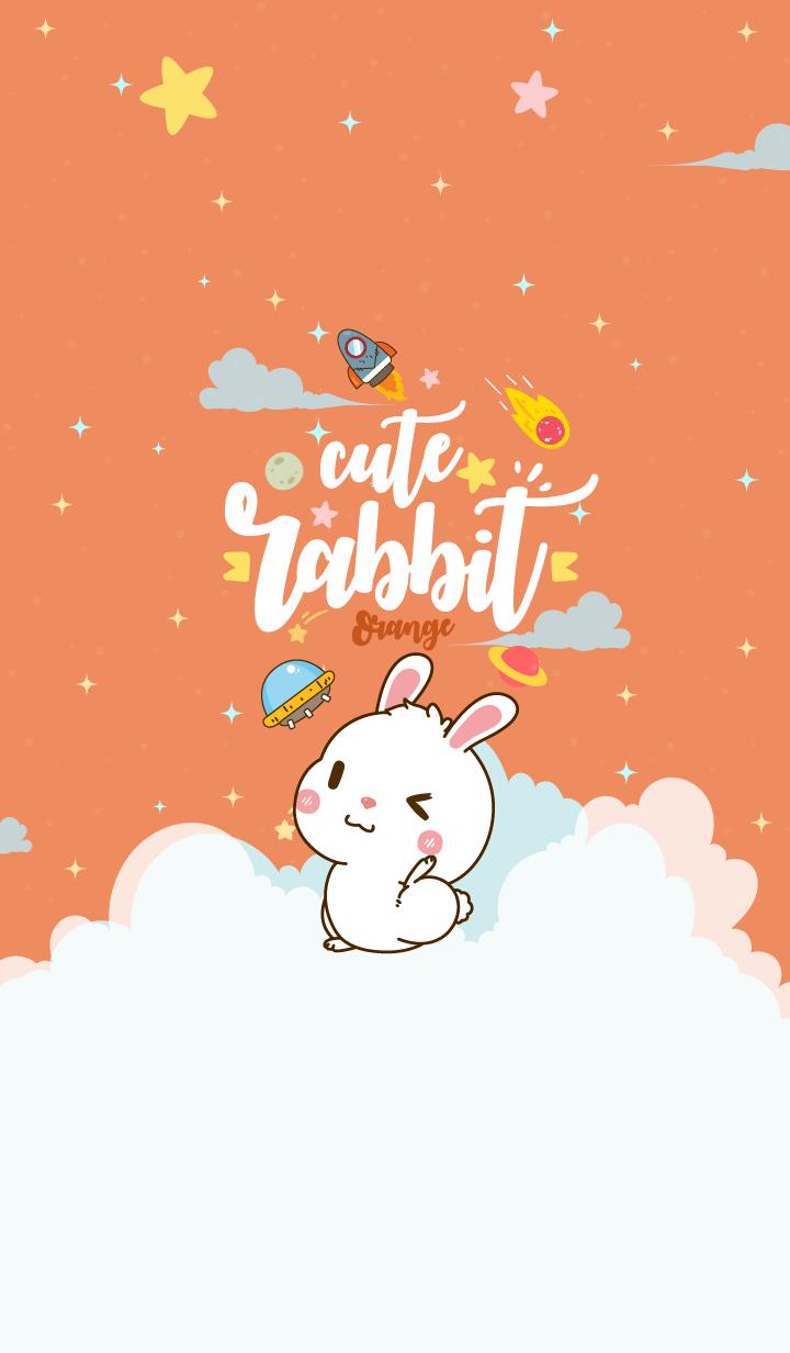 Rabbit Lovely Galaxy Orange