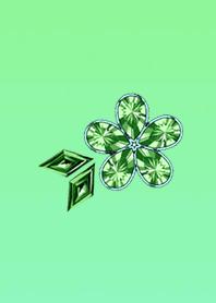 Jewelry Flower Blue Green