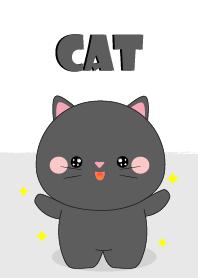 I Love Cute Black Cat Theme
