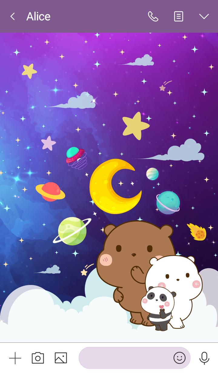 Bear Funny Galaxy Space
