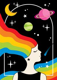 ธีมไลน์ เธอคือจักรวาลของฉัน