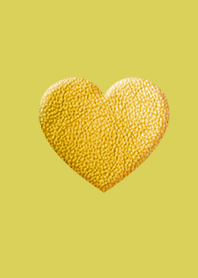 Simple Leather Yellow Heart