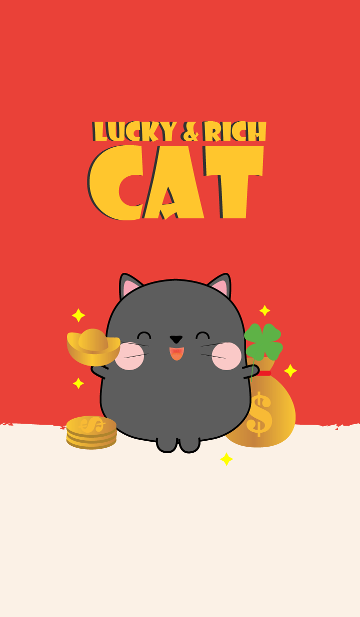 Lucky & Rich Black Cat