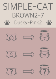 simple cat brown2-7 dpink2