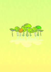Mushroom-like light green