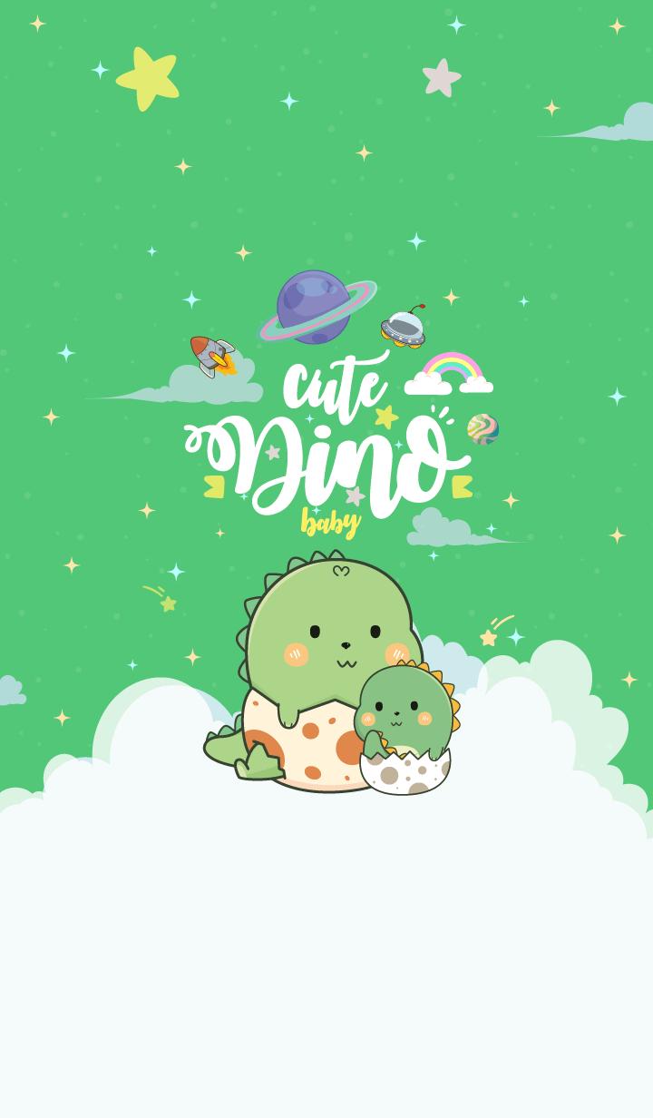 Dinosaur Baby Love Green