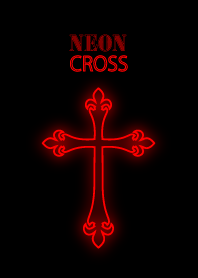 Neon cross red version