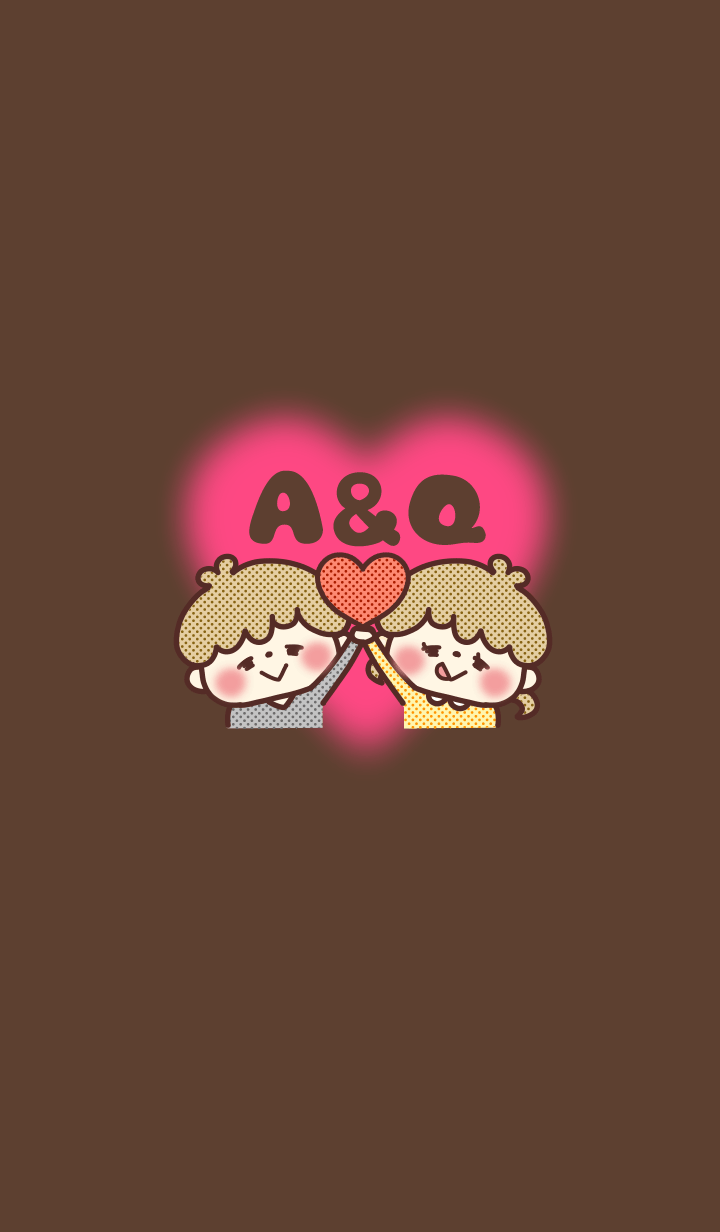 Initial theme for a sweet couple. A / Q