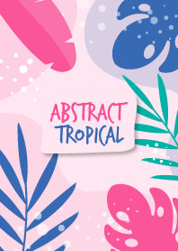 Abstract Tropical Hand Drawn Pig Pink