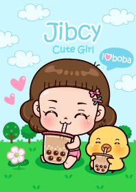Jibcy Cute Girl : i love boba