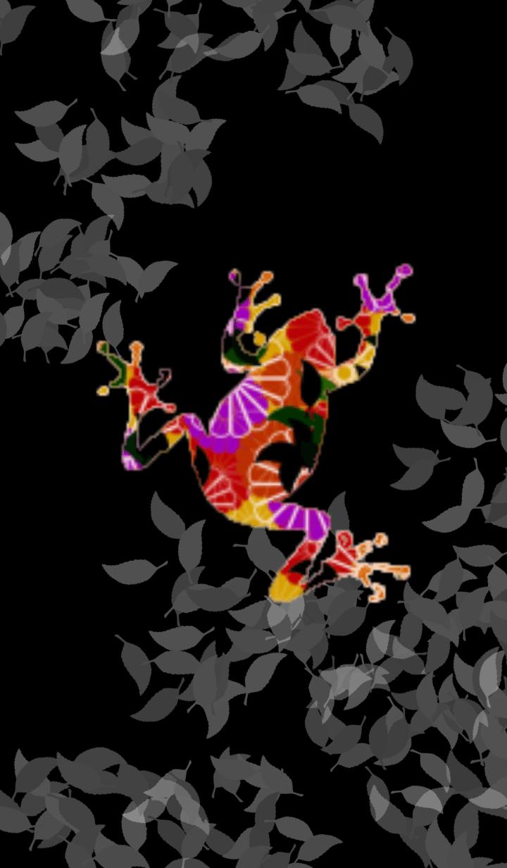Japanese pattern frog