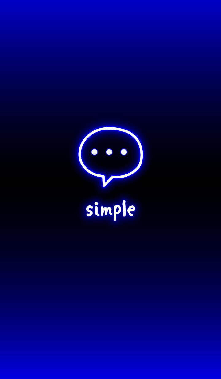 ネオンシンプル:ブラックブルー