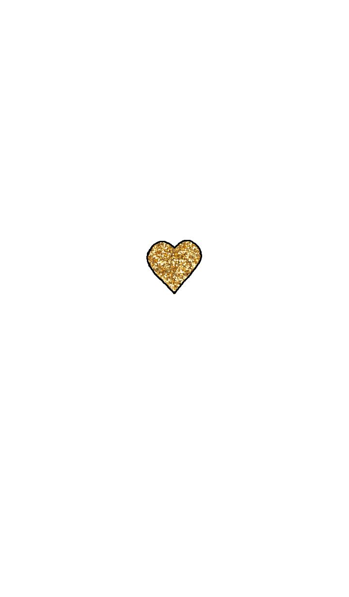 gold heart theme