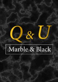 Q&U-Marble&Black-Initial
