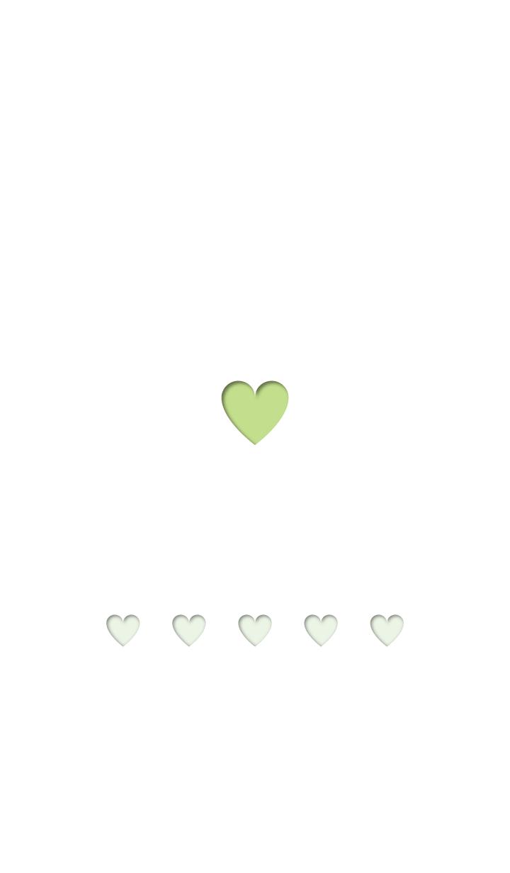 Cute heart - light green -