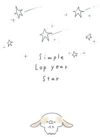 簡單的 落年 星號