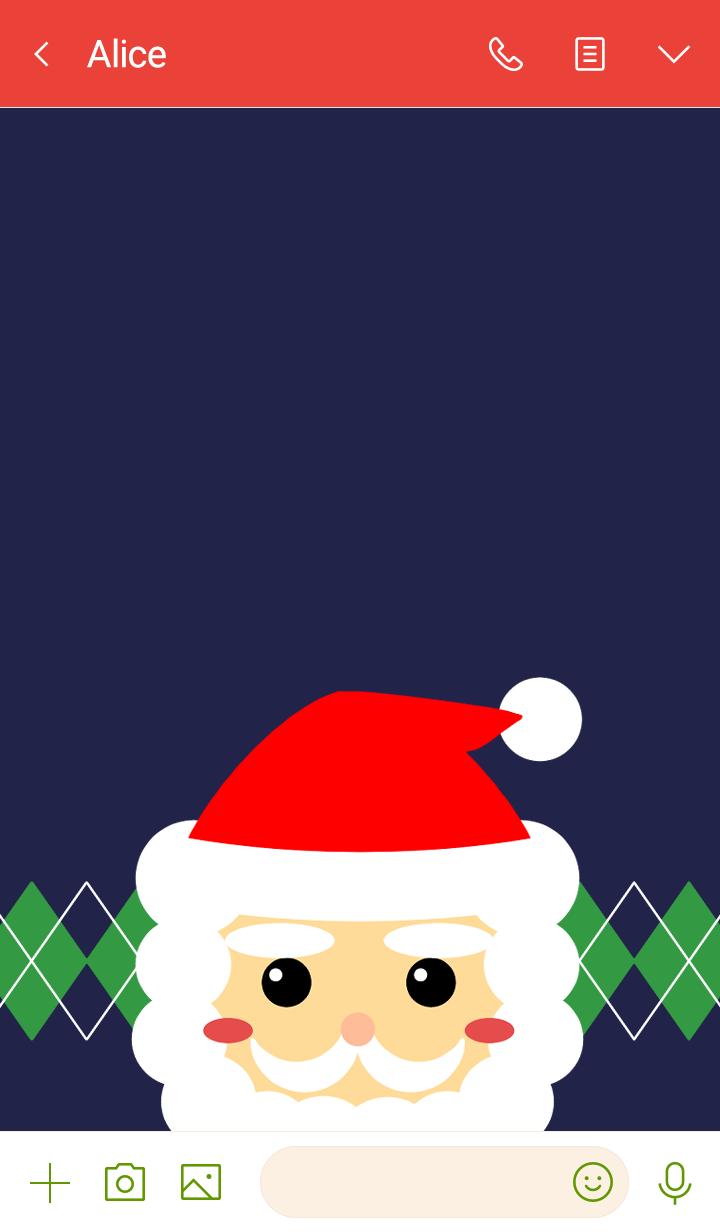 Retro pop Santa Claus
