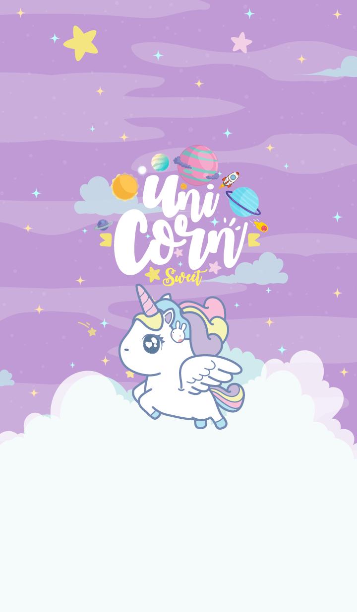 Unicorn Sweet Galaxy Violet Line