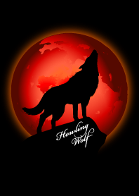 Howling Wolf. Red Moon