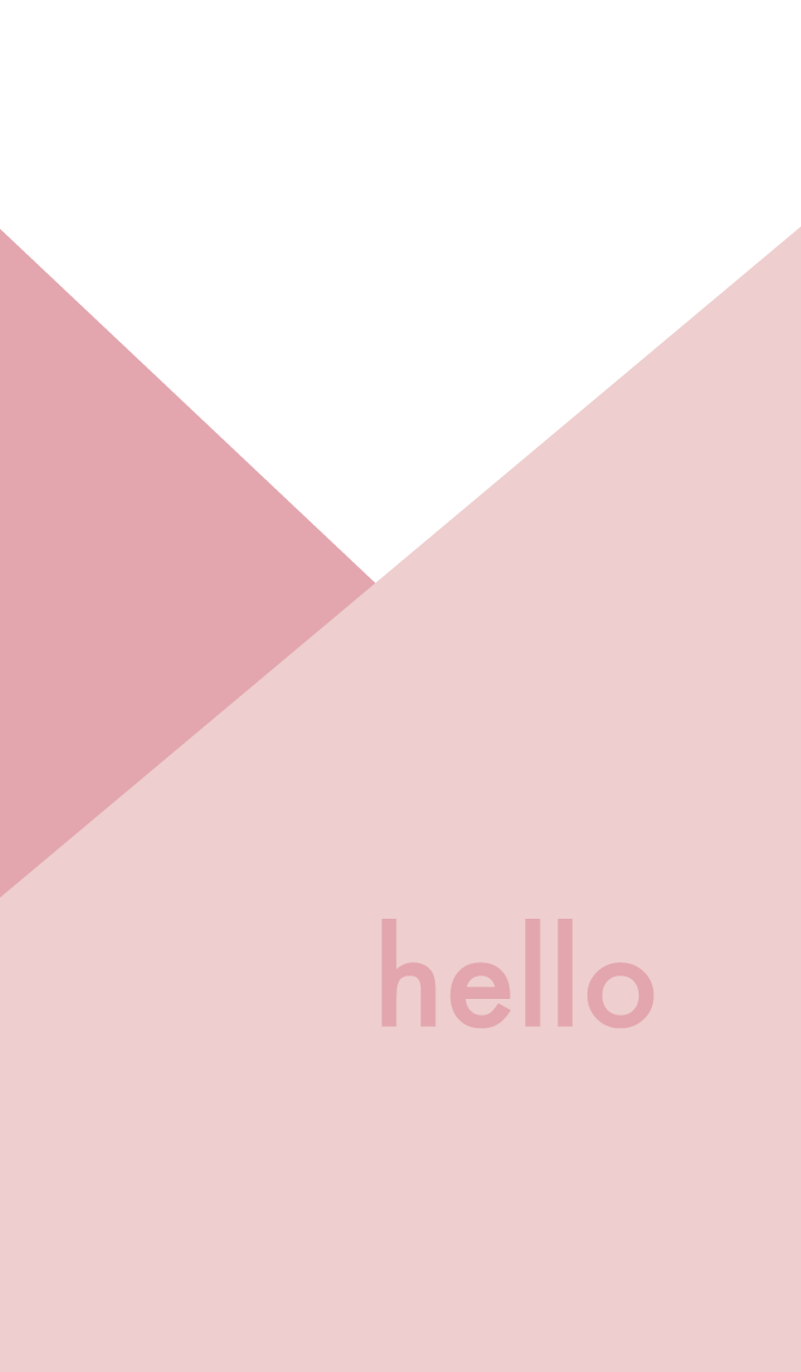 hello - rose pink & beige -