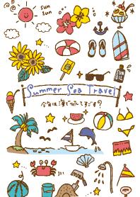 summer sea travel white J #pop