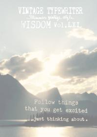 VINTAGE TYPEWRITER WISDOM Vol.LXI