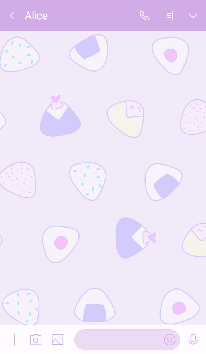 rice ball:purple pink WV