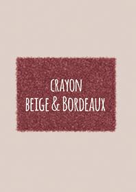 Crayon Beige & Bordeaux / Square